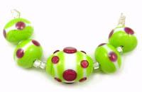 Key Lime and Polka Dots
